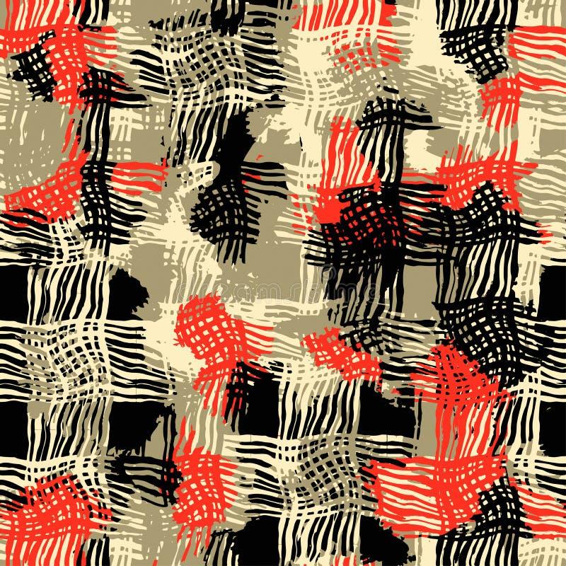 Modelo inconsútil de las materias textiles lamentables del grunge ilustración del vector