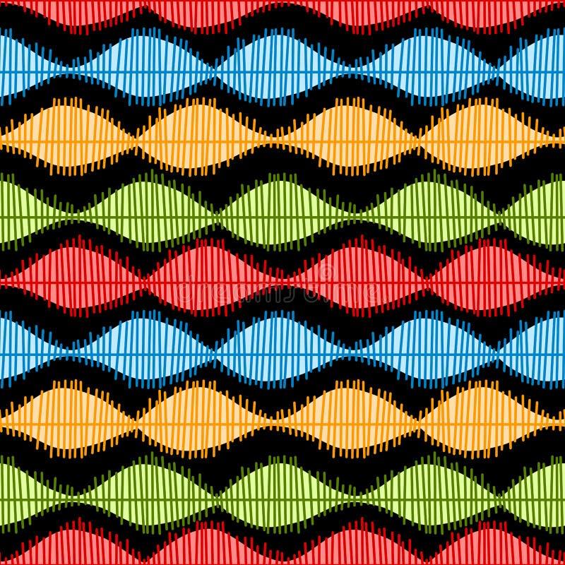 Modelo inconsútil de las ondas acústicas stock de ilustración
