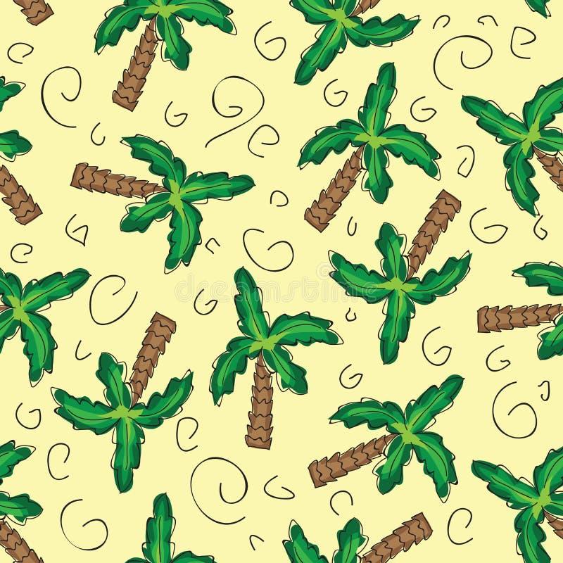 Modelo inconsútil de las palmeras verdes del vector libre illustration