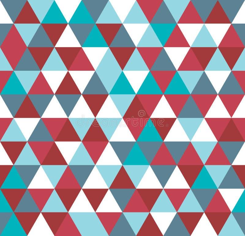 Modelo inconsútil de las partículas abstractas geométricas coloridas del triángulo stock de ilustración