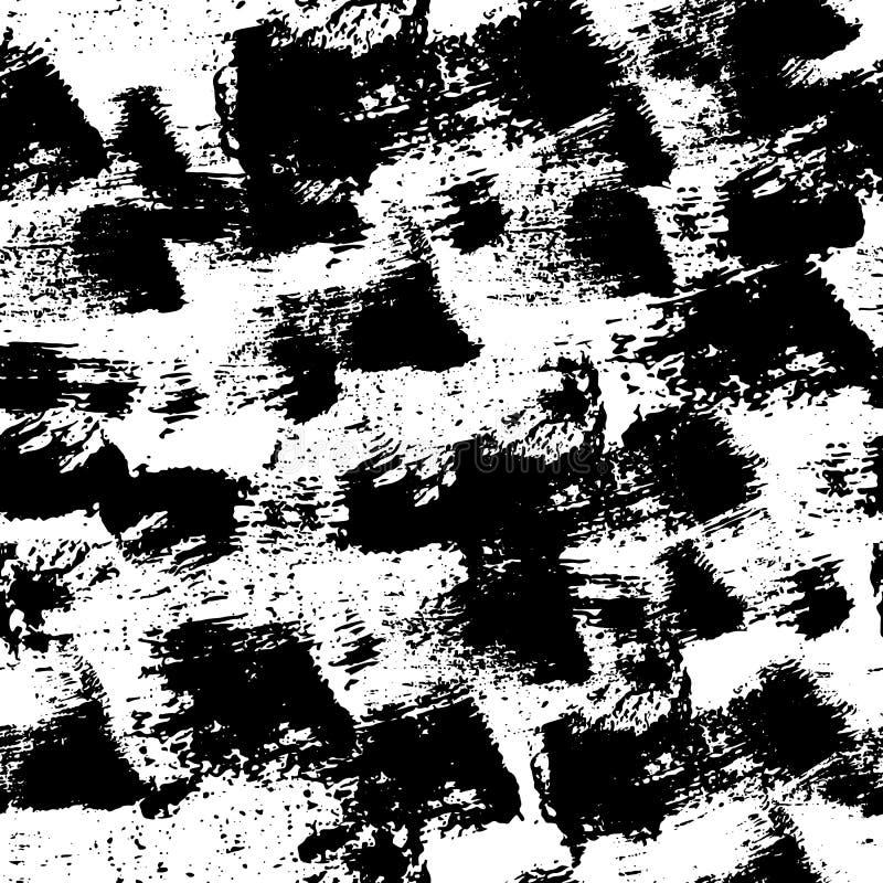 Modelo inconsútil de las pinceladas intrépidas Textura del vector Pintado a mano Impresión abstracta de la textura para las camis ilustración del vector