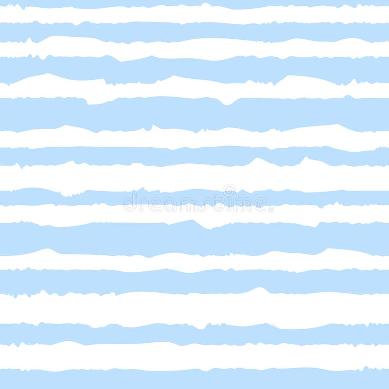 Modelo inconsútil de las rayas azules de las curvas para poco marinero Imagen del vector para el día de fiesta, fiesta de bienven libre illustration