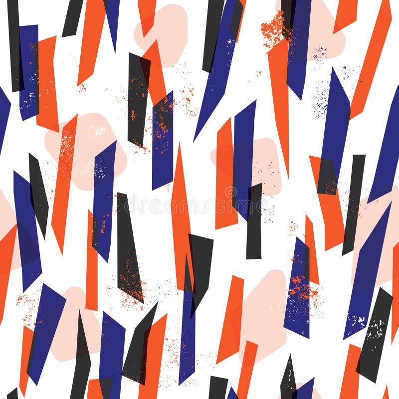 Modelo inconsútil de las rayas coloridas abstractas ilustración del vector