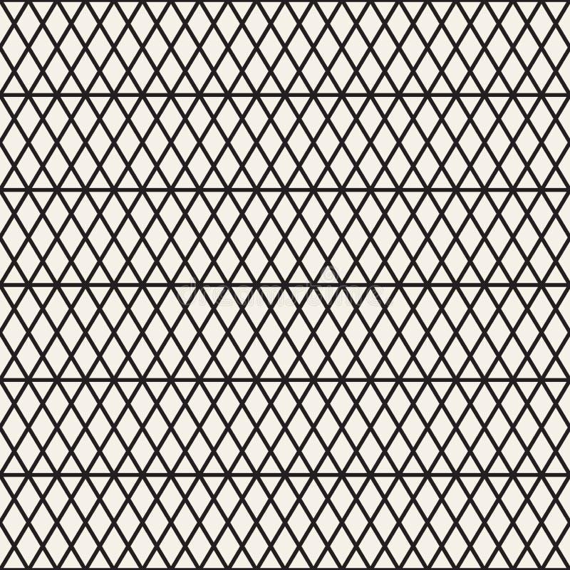 Modelo inconsútil de las rayas del vector Textura elegante moderna con enrejado monocromático Repetición de rejilla geométrica de stock de ilustración