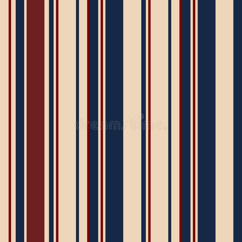 Modelo inconsútil de las rayas de los E.E.U.U. del color del estilo retro de la moda Extracto ilustración del vector