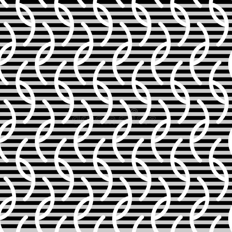 Modelo inconsútil de las rayas onduladas stock de ilustración