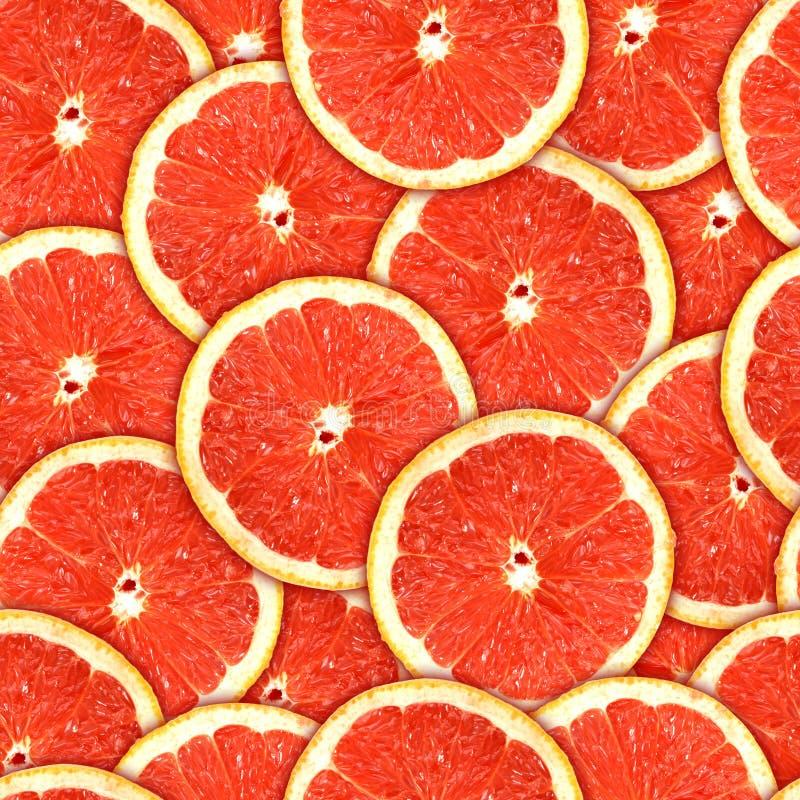 Modelo inconsútil de las rebanadas rojas del pomelo imagen de archivo
