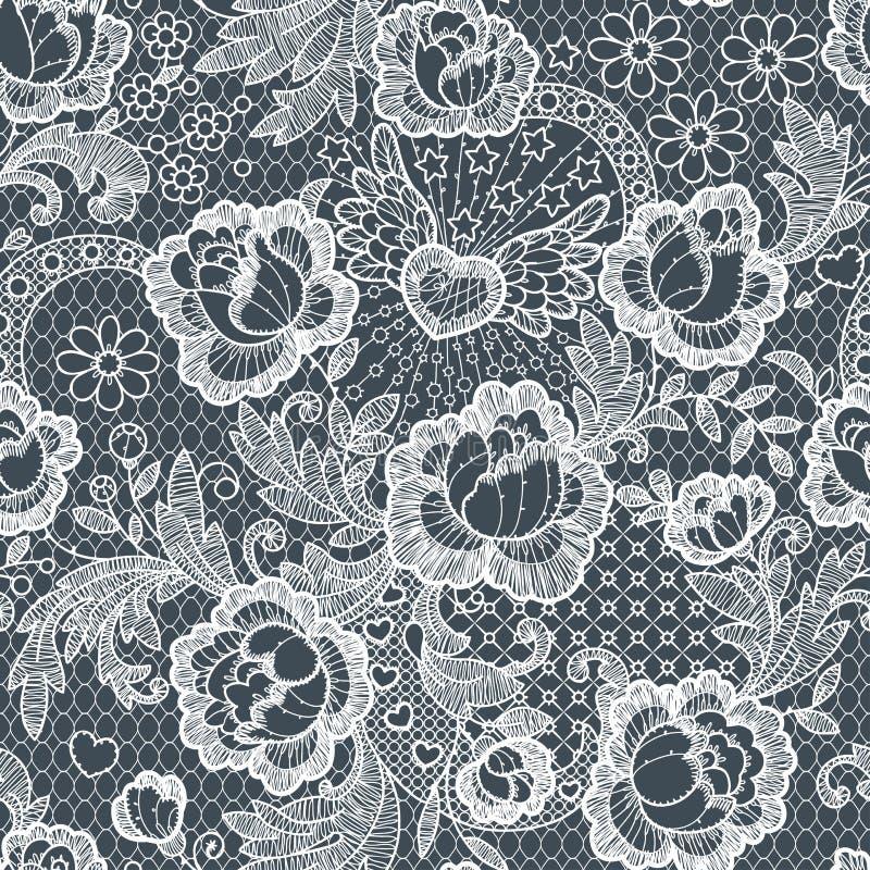 Modelo inconsútil de las rosas cordón libre illustration
