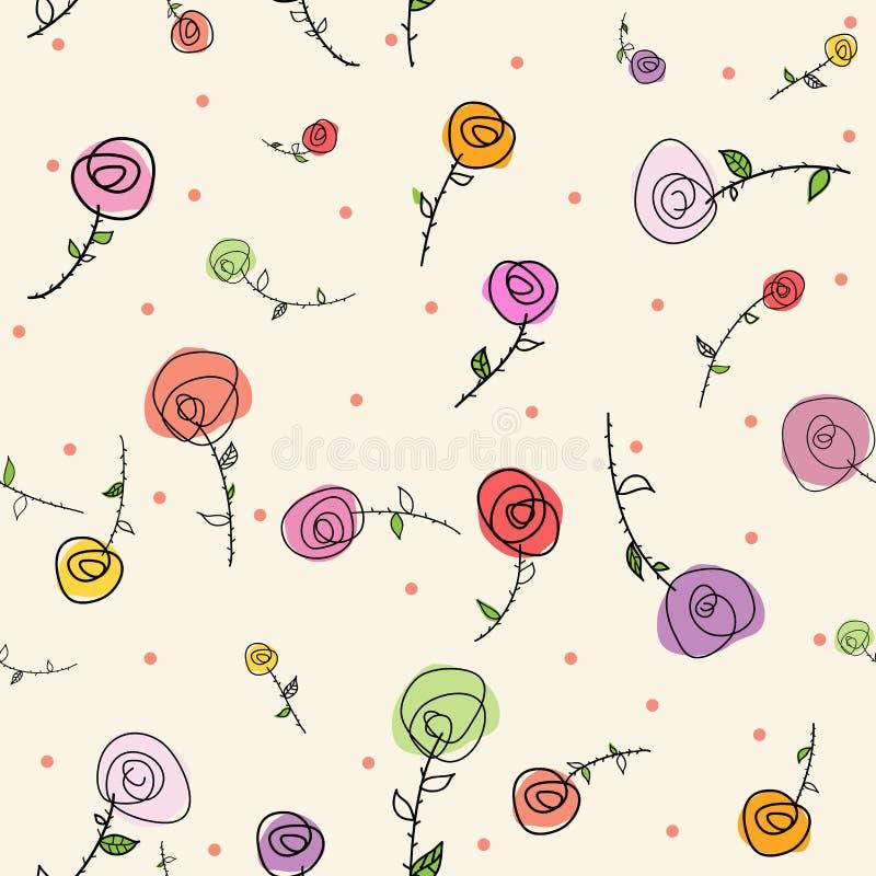 Modelo inconsútil de las rosas de Pascua fotografía de archivo libre de regalías