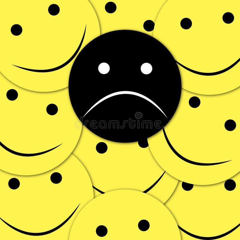 Modelo inconsútil de las sonrisas felices Fondo amarillo del vector del emoji Plantilla de la textura de la cara de las sonrisas ilustración del vector