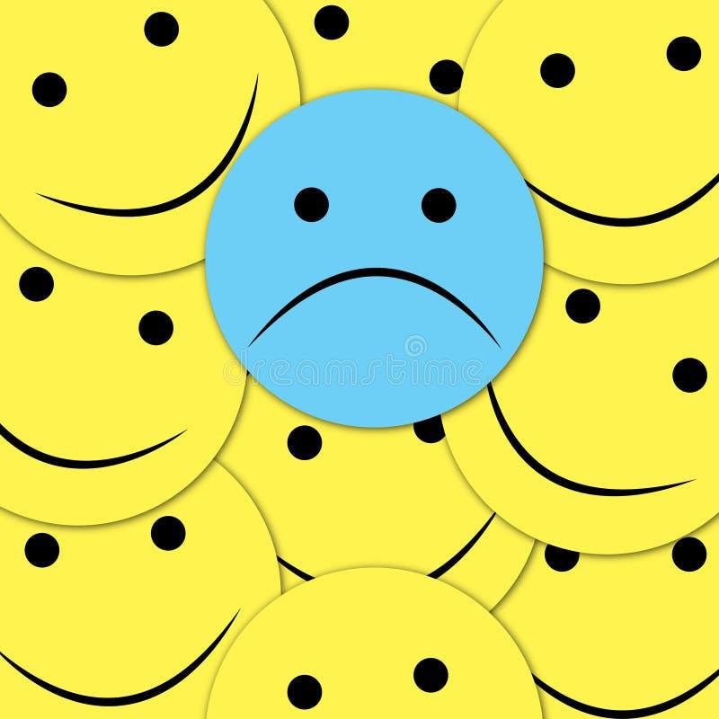 Modelo inconsútil de las sonrisas felices Fondo amarillo del vector del emoji Plantilla de la textura de la cara de las sonrisas libre illustration