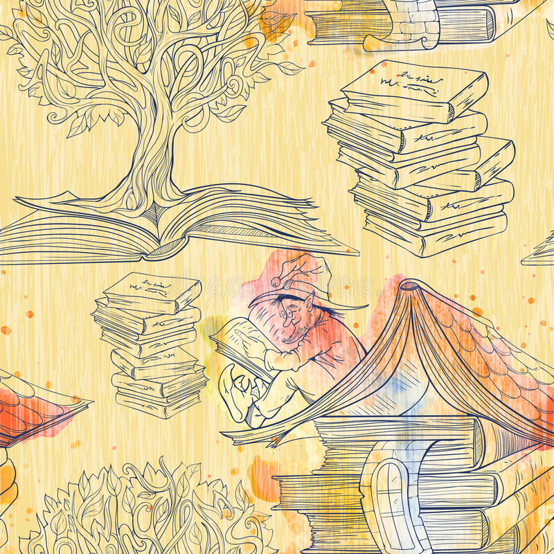 Modelo inconsútil de libros libre illustration