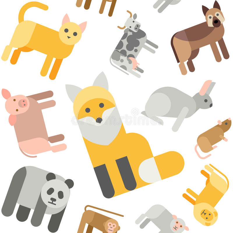 Modelo inconsútil de los animales libre illustration