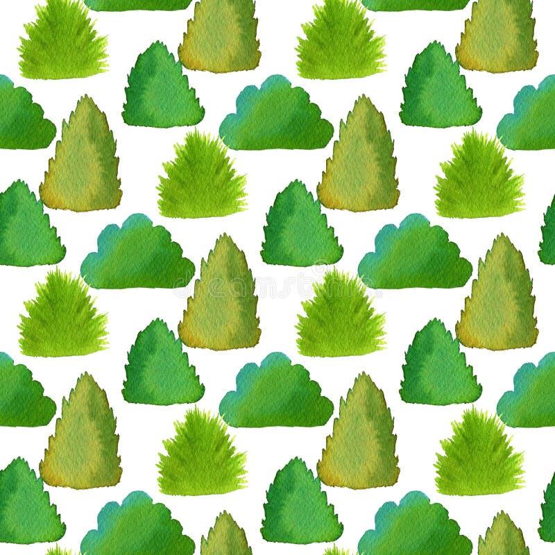 Modelo inconsútil de los arbustos Textura verde para el fondo de la tela, del papel y del web stock de ilustración