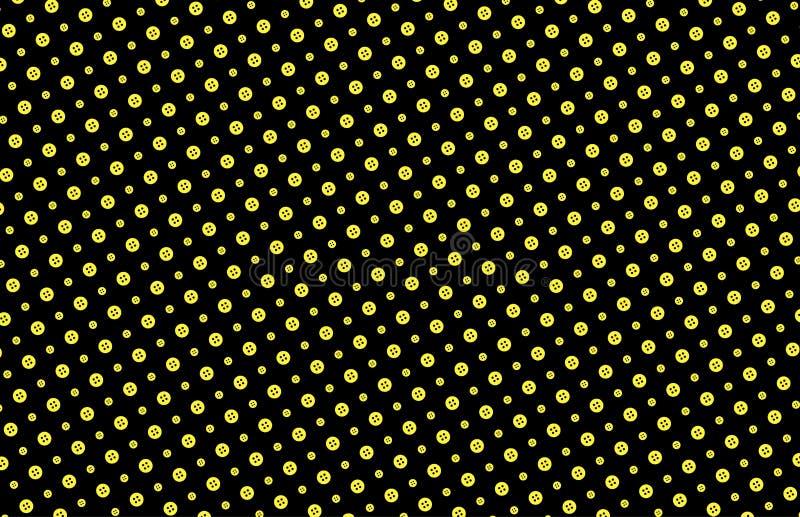 Modelo inconsútil de los botones en amarillo y negro imágenes de archivo libres de regalías