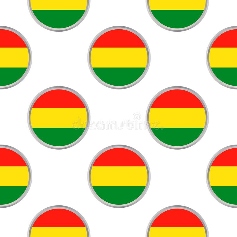 Modelo inconsútil de los círculos con la bandera de Bolivia ilustración del vector