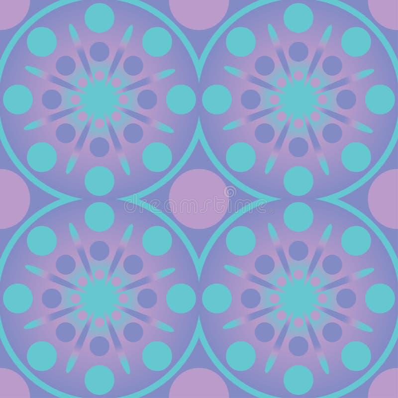 Modelo inconsútil de los círculos geométricos abstractos Diseño azul del rosa del papel pintado del vector ilustración del vector
