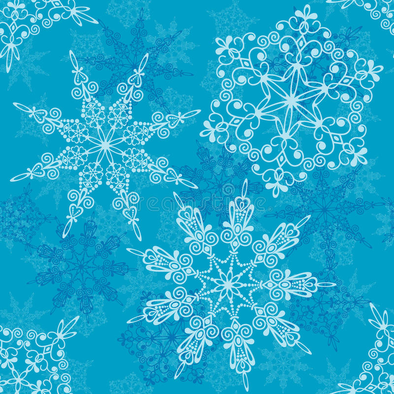 Modelo inconsútil de los copos de nieve,   libre illustration