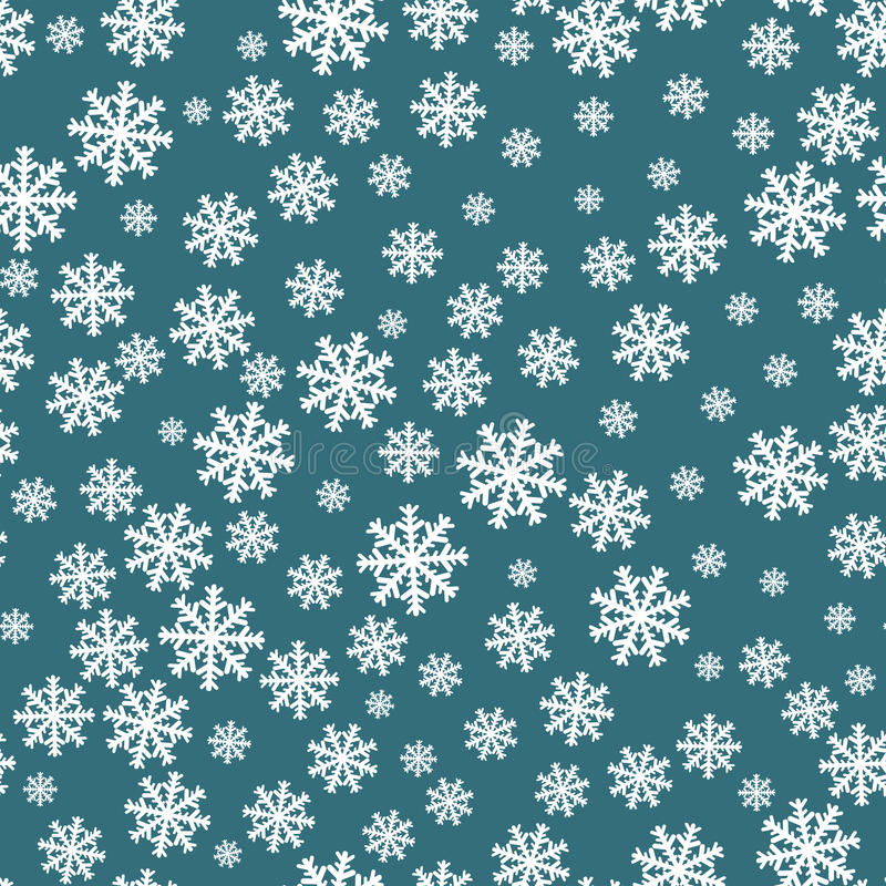 Modelo inconsútil de los copos de nieve Decoración del fondo del copo de nieve Vector del modelo de la Navidad libre illustration