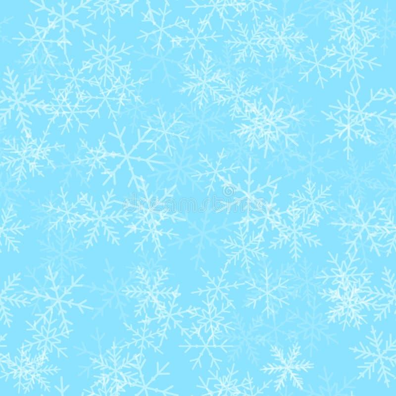 Modelo inconsútil de los copos de nieve transparentes encendido libre illustration