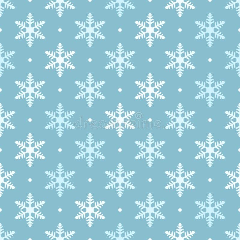 Modelo inconsútil de los copos de nieve blancos y azules libre illustration