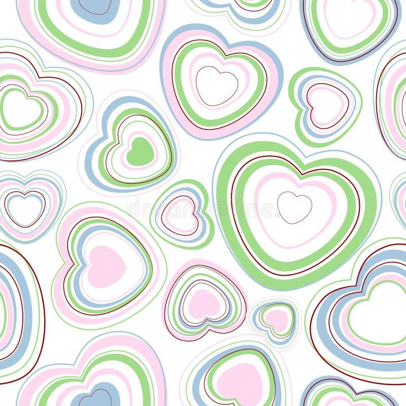 Modelo inconsútil de los corazones. libre illustration