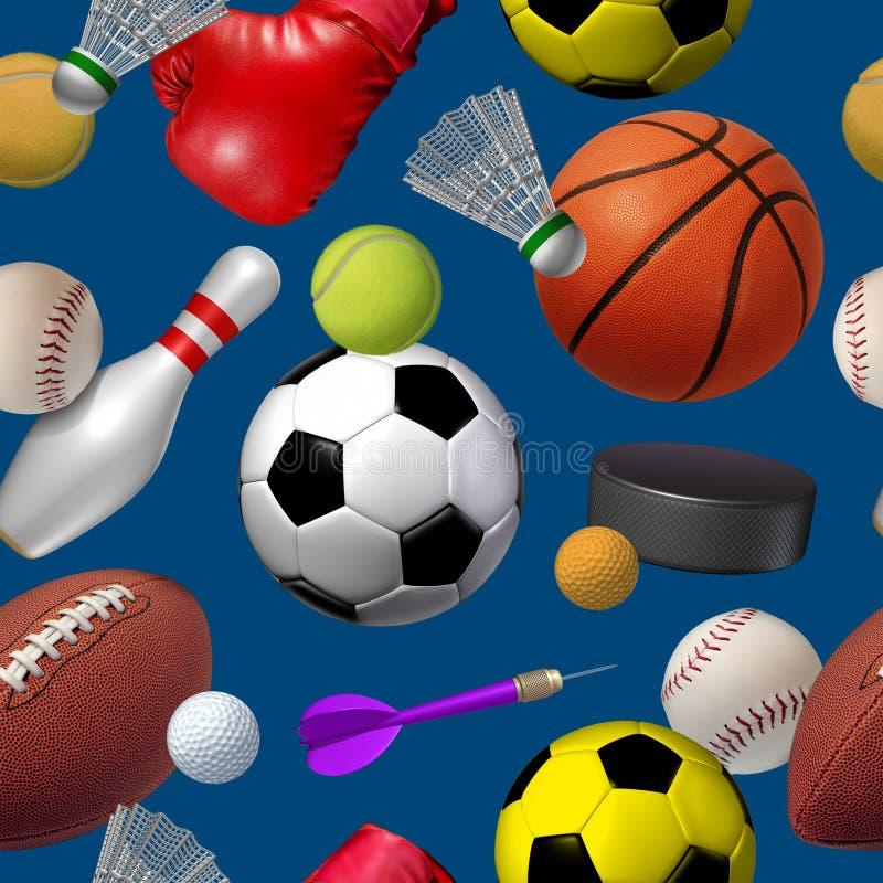 Modelo inconsútil de los deportes ilustración del vector
