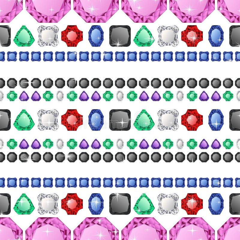 Modelo inconsútil de los diamantes libre illustration