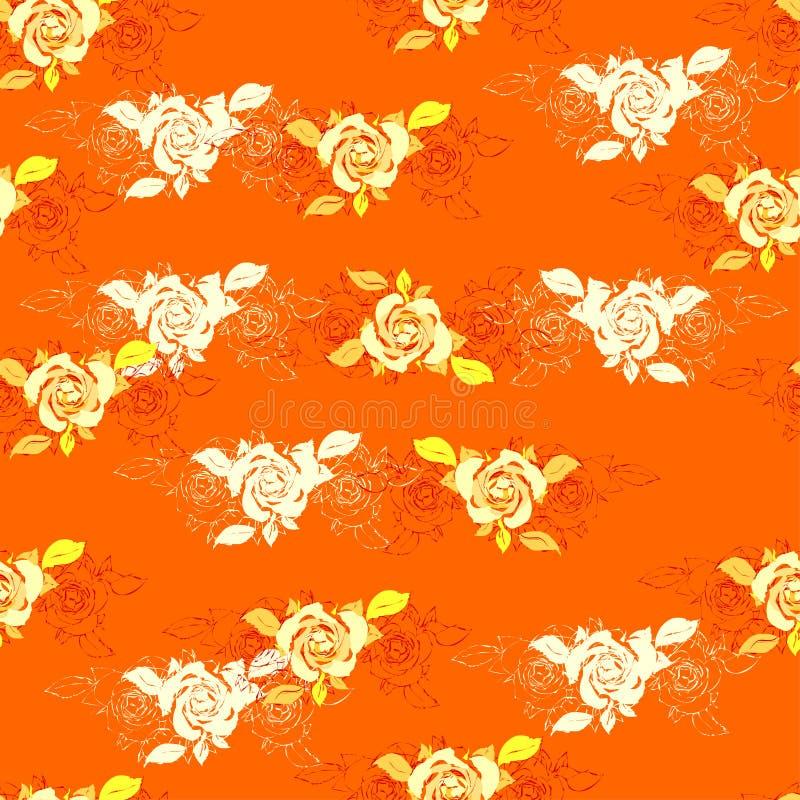 Modelo inconsútil de los elementos florales Diseño romántico decorativo Textura sin fin para el papel de embalaje, materia textil stock de ilustración