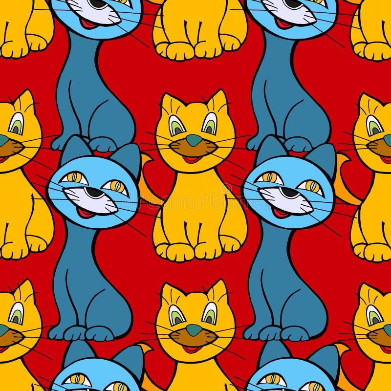 Modelo inconsútil de los gatos libre illustration