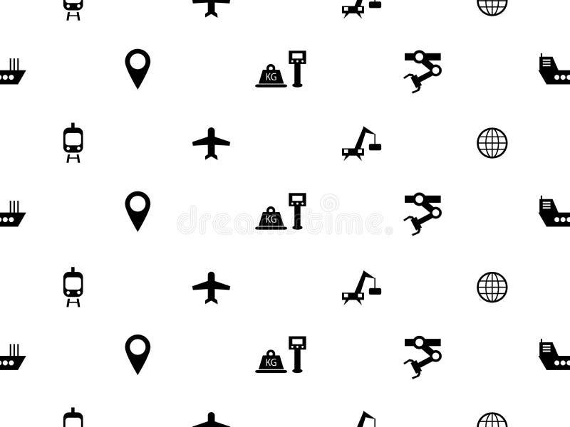 Modelo inconsútil de los iconos logísticos libre illustration