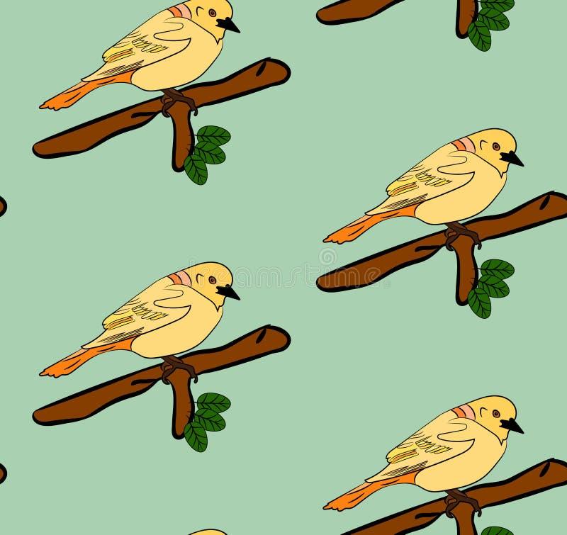 Modelo inconsútil de los pájaros ilustración del vector