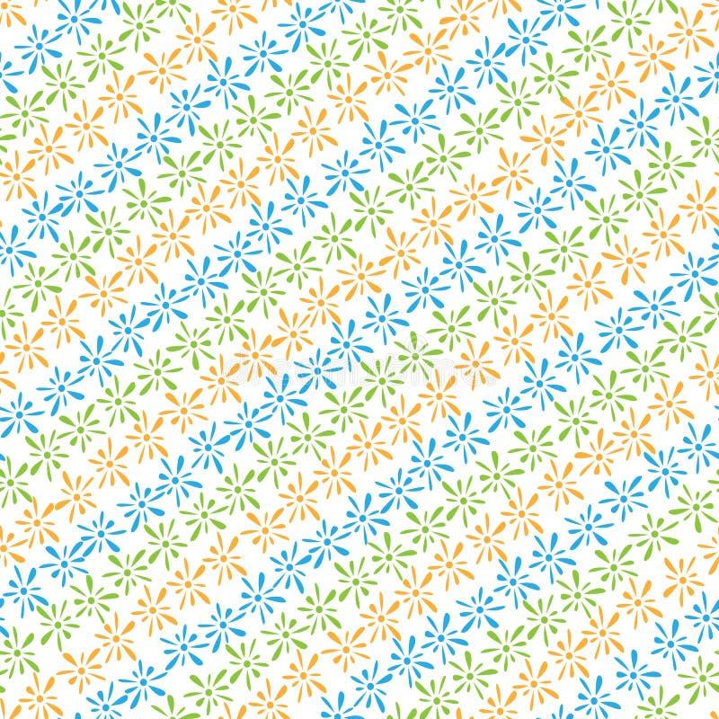 Modelo inconsútil de los pétalos coloreados de los floretes libre illustration