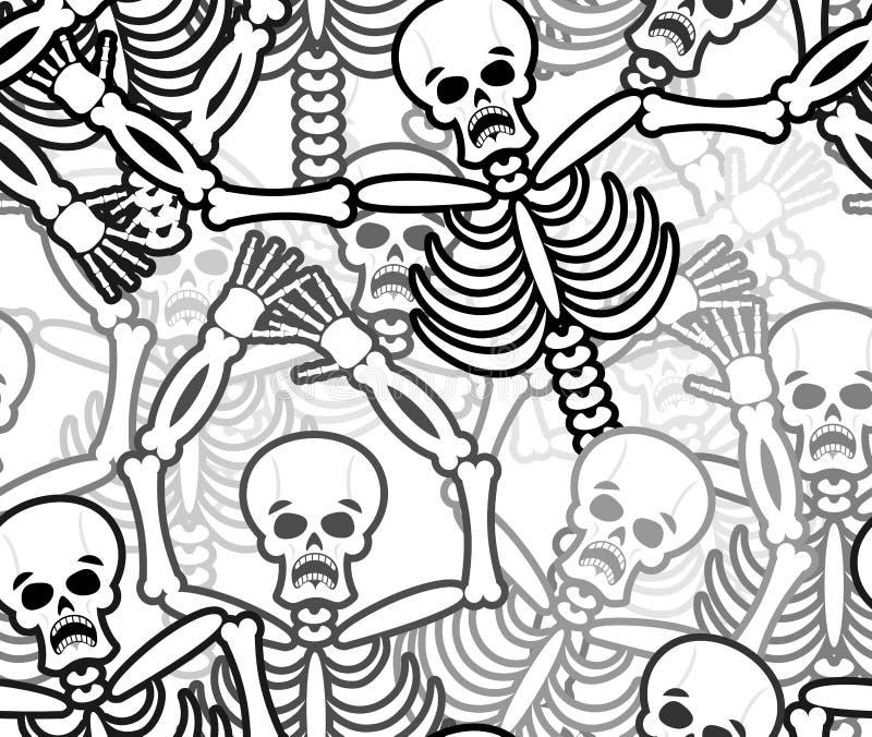 Modelo inconsútil de los pecadores Esqueleto en fondo del infierno Ornamento libre illustration
