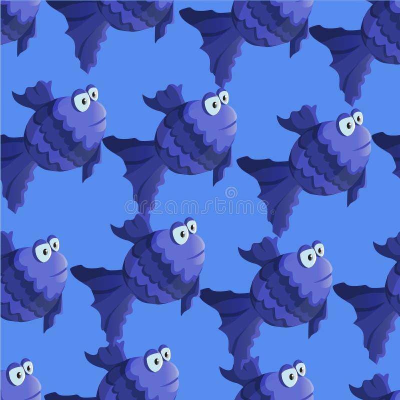 Modelo inconsútil de los pescados del vector ilustración del vector