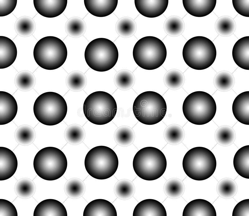 Modelo inconsútil de los puntos del negro de la pendiente fotografía de archivo