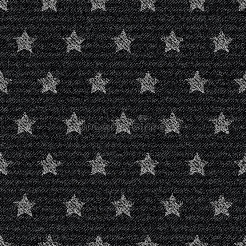 Modelo inconsútil de los vaqueros negros del dril de algodón ilustración del vector