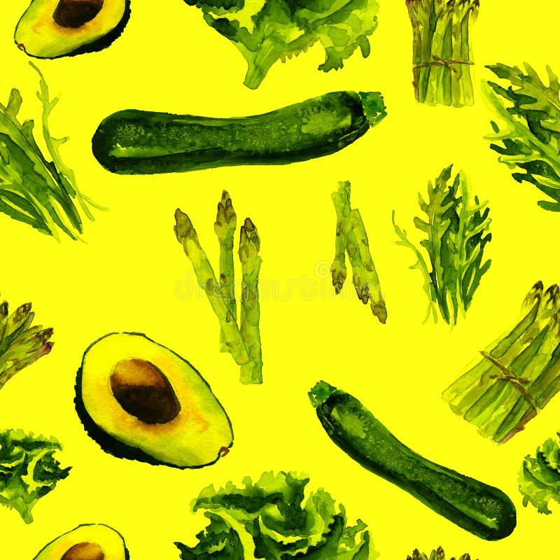 Modelo inconsútil de los vehículos Modelo repetible con la comida sana ilustración del vector