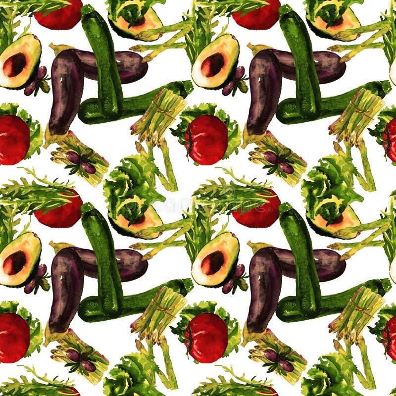 Modelo inconsútil de los vehículos Modelo repetible con la comida sana libre illustration