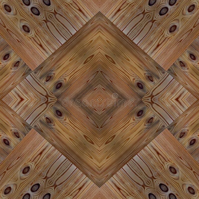 Modelo inconsútil de madera del ornamento del entarimado imagen de archivo
