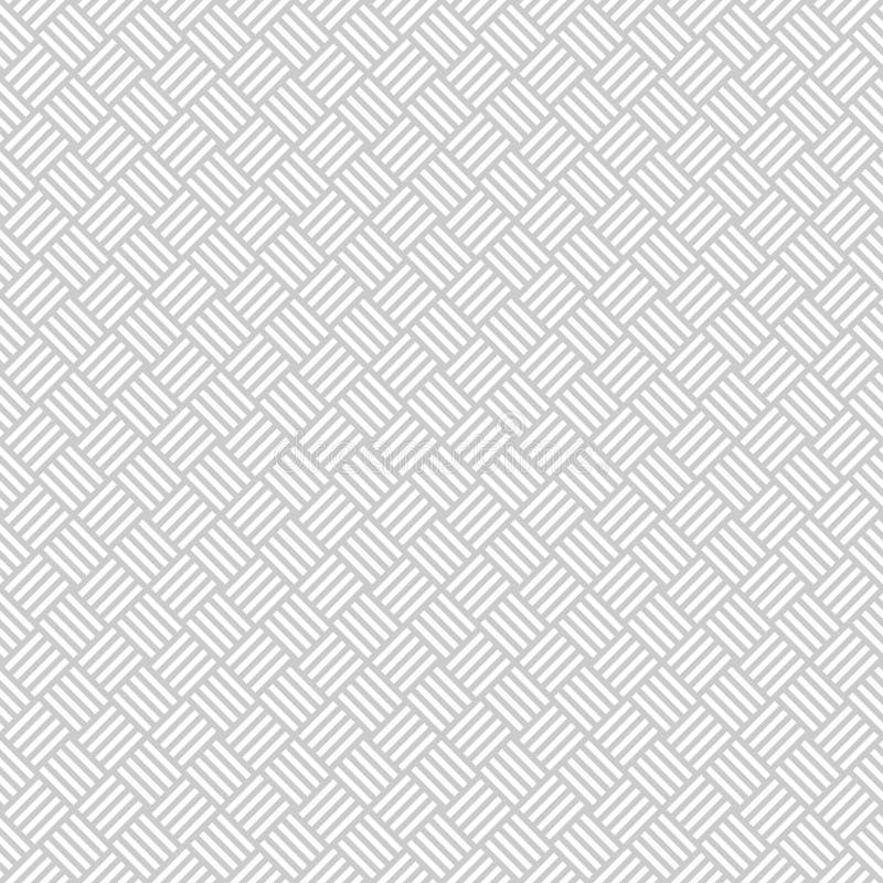 Modelo inconsútil de mimbre en gris claro Armadura de cesta ilustración del vector