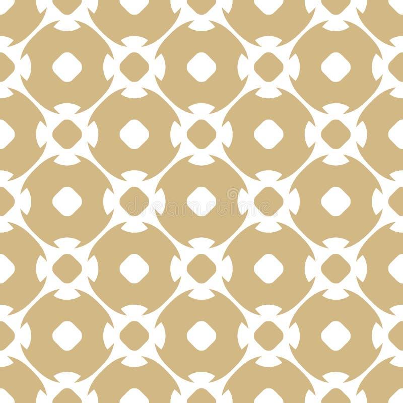 Modelo inconsútil de oro del vector en estilo árabe Blanco y fondo del ornamental del oro libre illustration