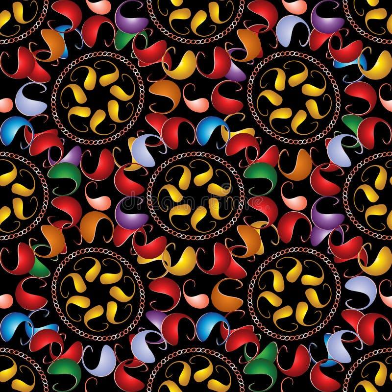 Modelo inconsútil de Paisley del vector colorido Orname abstracto brillante libre illustration