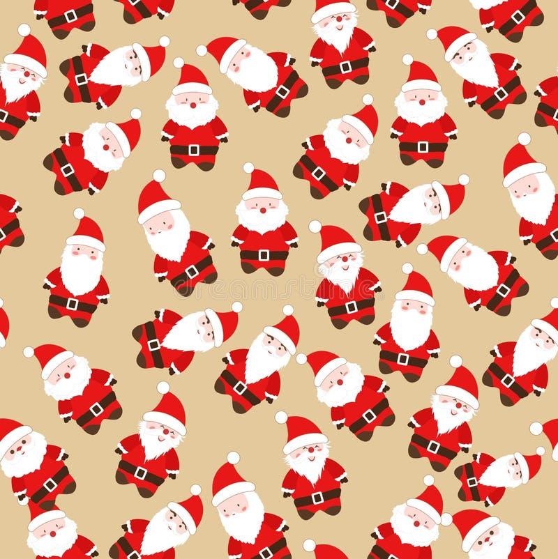 Modelo inconsútil de Papá Noel de la Navidad stock de ilustración