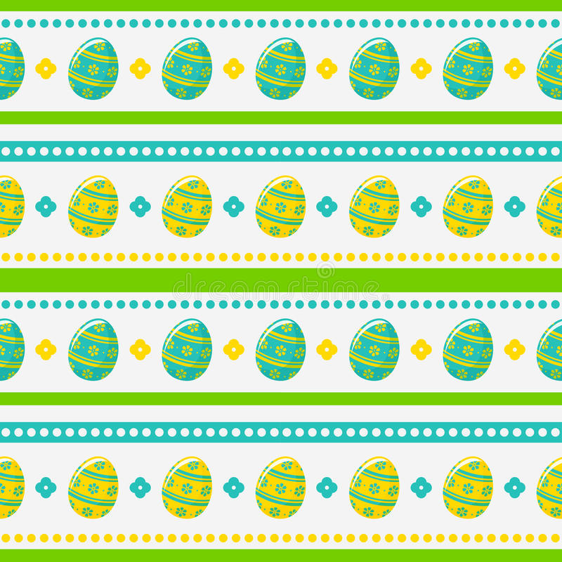 Modelo inconsútil de Pascua con los huevos pintados Fondo del vector stock de ilustración