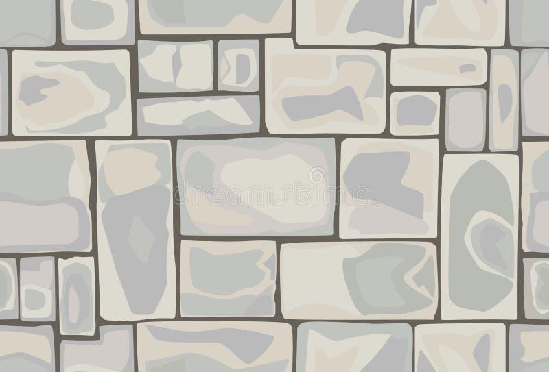 Modelo inconsútil de piedras stock de ilustración