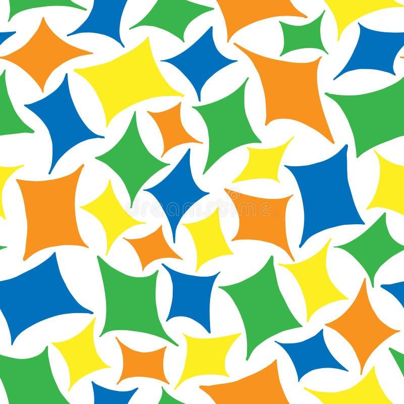 Modelo inconsútil de rombos coloreados libre illustration