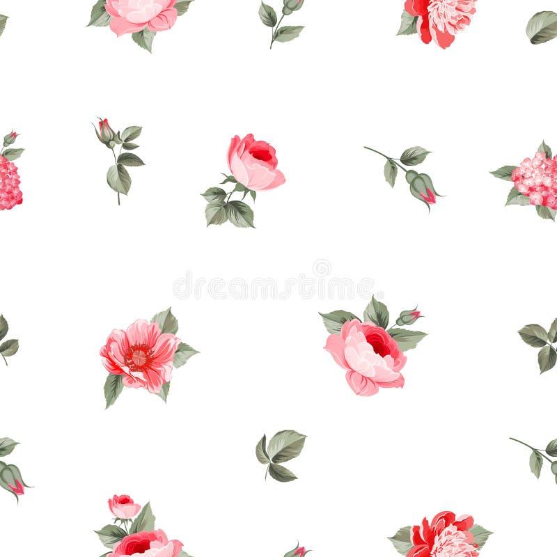 Modelo inconsútil de Rose stock de ilustración