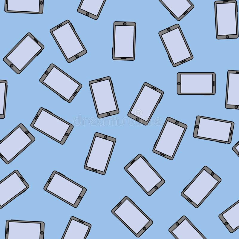 Modelo inconsútil de Smartphone ilustración del vector