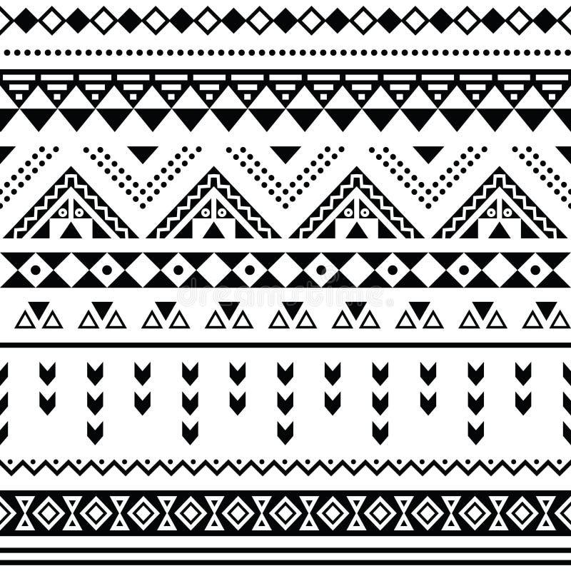 Modelo inconsútil de Tibal, negro azteca blanco del prin ilustración del vector